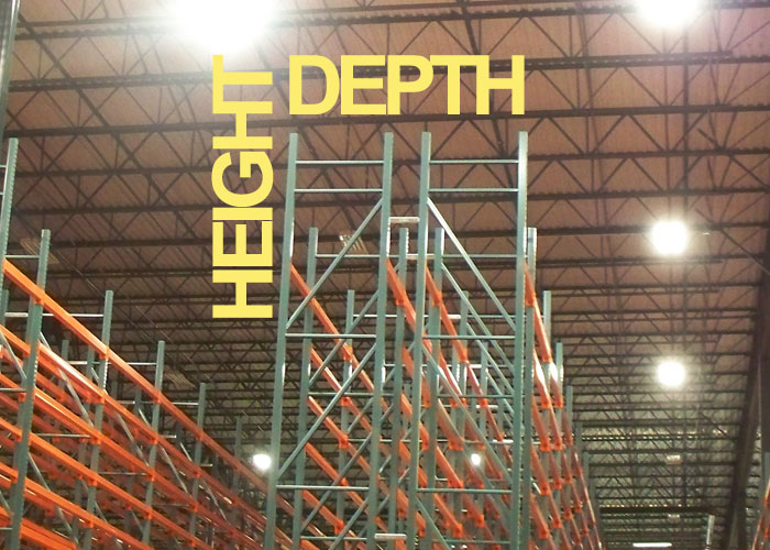 HEIGHT TO DEPTH RATIO FOR PALLET RACK